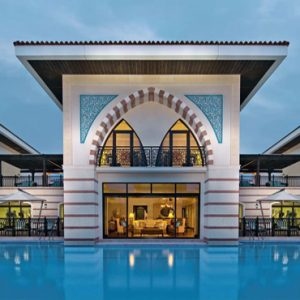 Dubai Honeymoon Packages Jumeirah Zabeel Saray Pool Exterior