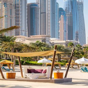 Dubai Honeymoon Packages One&Only Royal Mirage Beach Jetty Cabana Skyline