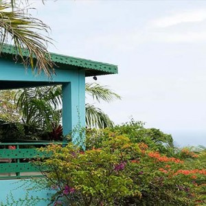 Golden Rock Inn - Luxury Nevis Honeymoon Packages - Mt. pleasant balcony view