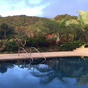 Golden Rock Inn - Luxury Nevis Honeymoon Packages - Pool with hilltop view