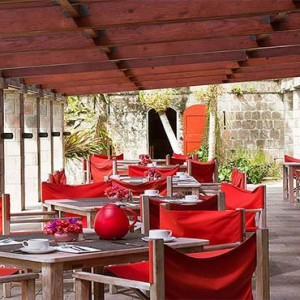 Golden Rock Inn - Luxury Nevis Honeymoon Packages - Rock restaurant1