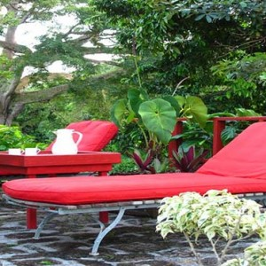 Golden Rock Inn - Luxury Nevis Honeymoon Packages - sun loungers