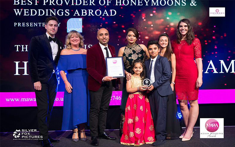 Honeymooon Dreams - Mawa Awards 2017 - best provider of honeymoons and weddings abroad