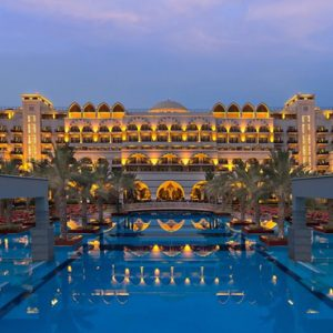 Hotel Exterior At Night Jumeirah Zabeel Saray Luxury Dubai Honeymoon Packages