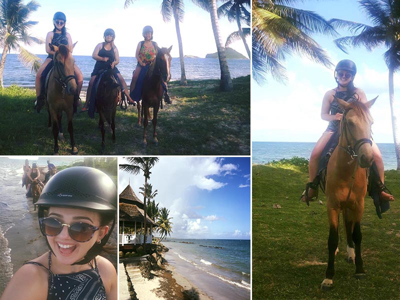 Natasha shares her experiences - St Lucia honeymoons - Coconut bay beach resort - horse riding
