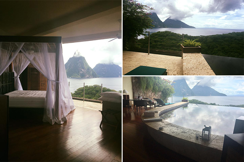 Natasha shares her experiences - St Lucia honeymoons - Jade Mountain - room