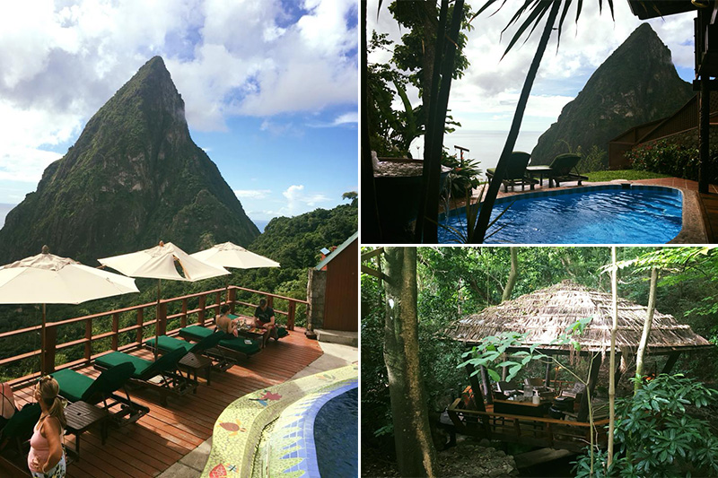 Natasha shares her experiences - St Lucia honeymoons - Ladera resort - location