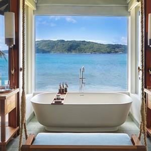 Ocean Front Pool Villa 6 - six senses zil pasyon - luxury seychelles honeymoon packages