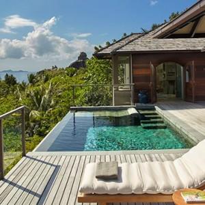 Panorama PoolVilla - six senses zil pasyon - luxury seychelles honeymoon packages