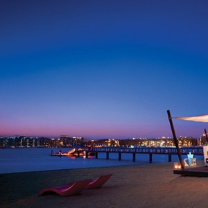 beach at night - One and Only Royal Mirage - Luxury Dubai Honeymoon Packages