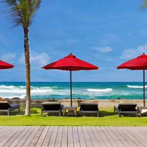 beach deck - amari galle sri lanka - luxury sri lanka honeymoon packages