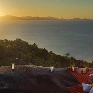 sunset 3 - six senses zil pasyon - luxury seychelles honeymoon packages
