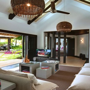 Luxury Mauritius Honeymoon Packages - Lux* Belle Mare - Beachfront Villa living area