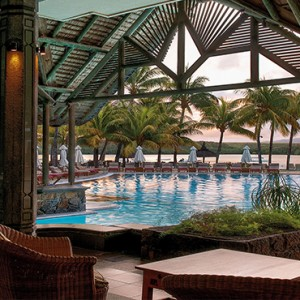 Mauritius Honeymoon Packages Shandrani Beachcomber Resort & Spa Restaurant Pool View