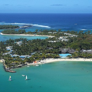 Mauritius Honeymoon Packages Shandrani Beachcomber Resort & Spa Aerial View