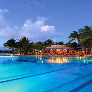Mauritius Honeymoon Packages Shandrani Beachcomber Resort & Spa Pool At Night