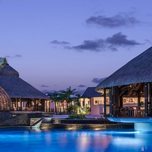 Mauritius Honeymoon Packages Shangri La's Le Touessrok Resort And Spa Main Pool At Evening