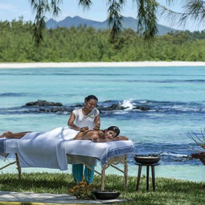 Mauritius Honeymoon Packages Shangri La's Le Touessrok Resort And Spa Spa Massage Outdoors