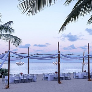 Mauritius Honeymoon Packages Shangri La's Le Touessrok Resort And Spa Dinner Setup