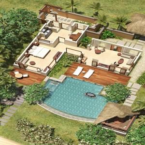 Mauritius Honeymoon Packages Shanti Maurice Resort & Spa Beachfront Suite Pool Villa Aerial View