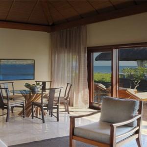 Mauritius Honeymoon Packages Shanti Maurice Resort & Spa Beachfront Suite Pool Villa Living Area