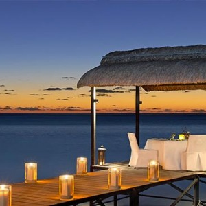 Mauritius Honeymoon Packages St Regis Mauritius Private Dining On The Jetty