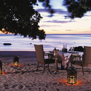 Mauritius Honeymoon Packages The Oberoi Mauritius Candlelit Dinner On The Beach