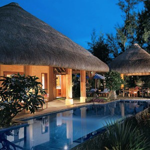 Mauritius Honeymoon Packages The Oberoi Mauritius Presidential Villa With Private Pool Exterior At Night