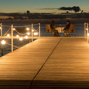 Mauritius Honeymoon Packages Maradiva Villas Resort & Spa Dinner On Jetty