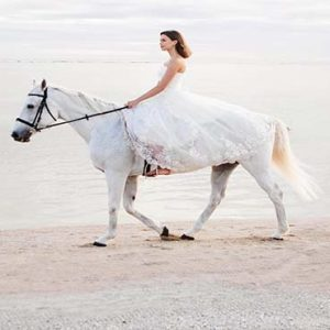 Mauritius Honeymoon Packages Maradiva Villas Resort & Spa Bride On Horse