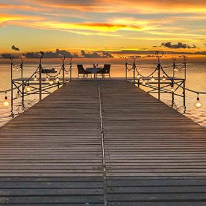 Mauritius Honeymoon Packages Maradiva Villas Resort & Spa Jetty Sunset