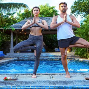 Mauritius Honeymoon Packages Maradiva Villas Resort & Spa Yoga Couple