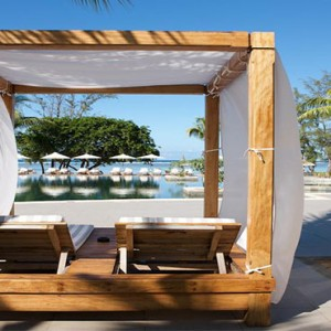 Outrigger Mauritius Beach Resort - Luxury Mauritius Honeymoon Packages - pool cabanas