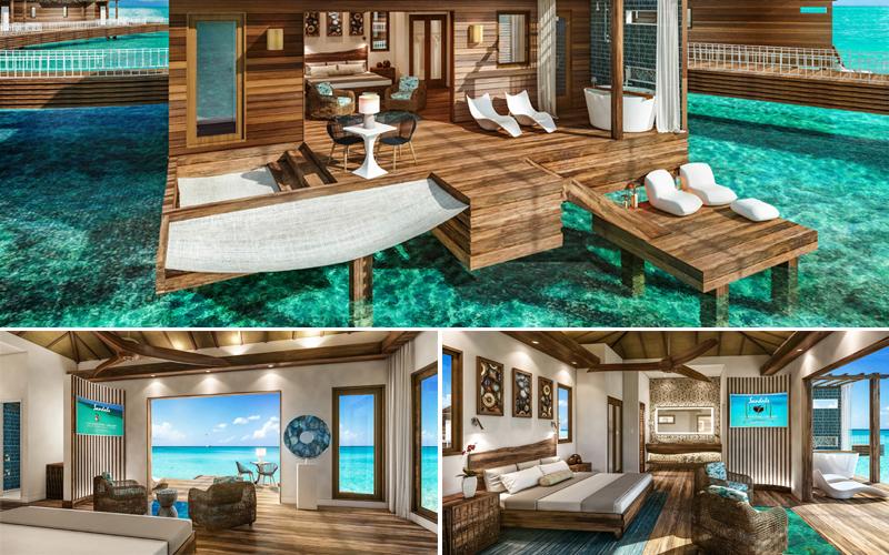 sandalsgrande st lucian over water villas