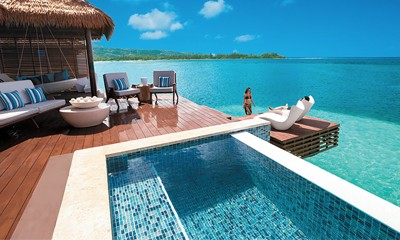 Overwater Bungalows at Sandals Resorts