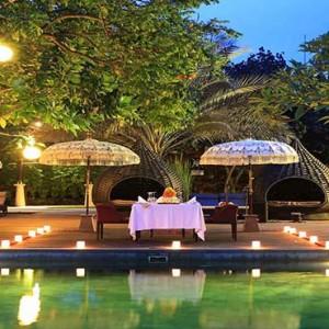 Amarterra Villas Bali Nusa Dua - Luxury Bali Honeymoon Packages - Private dining