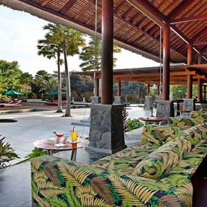 Amarterra Villas Bali Nusa Dua - Luxury Bali Honeymoon Packages - Restaurant pool view