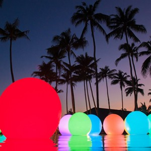 Atmosphere Kanifushi - Luxury Maldives Honeymoon Packages - Pool at night
