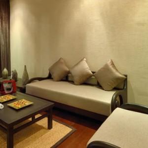 Atmosphere Kanifushi - Luxury Maldives Honeymoon Packages - Sunset Pool Villa living area