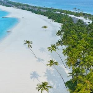 Atmosphere Kanifushi - Luxury Maldives Honeymoon Packages - aerial view of beach