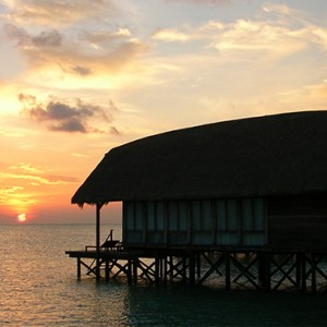 COMO Cocoa island - Luxury Maldives Honeymoon Packages - One bedroom villa at sunset
