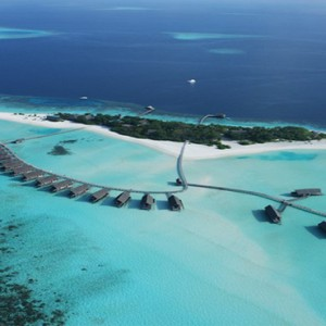 COMO Cocoa island - Luxury Maldives Honeymoon Packages - aerial view