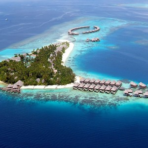 Coco Bodu Hithi - Luxury Maldives Honeymoon Packages - Aerial view1