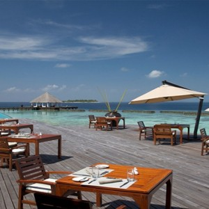 Coco Bodu Hithi - Luxury Maldives Honeymoon Packages - Air restaurant exterior