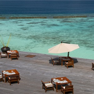 Coco Bodu Hithi - Luxury Maldives Honeymoon Packages - Aqua restaurant exterior2