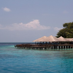 Coco Bodu Hithi - Luxury Maldives Honeymoon Packages - Aqua restaurant exterior3