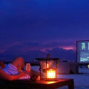 Coco Bodu Hithi - Luxury Maldives Honeymoon Packages - Cinema on beach