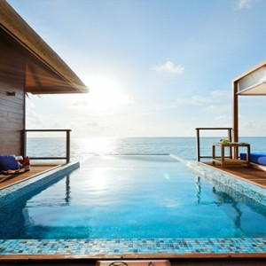 Coco Bodu Hithi - Luxury Maldives Honeymoon Packages - Coco Residence pool view