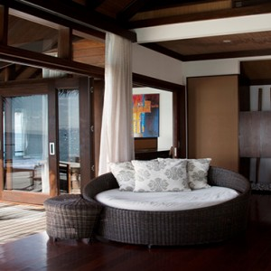 Coco Bodu Hithi - Luxury Maldives Honeymoon Packages - Escape Water Villa living area