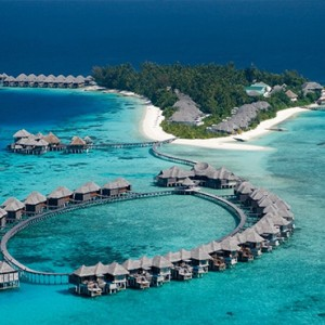 Coco Bodu Hithi - Luxury Maldives Honeymoon Packages - aerial view